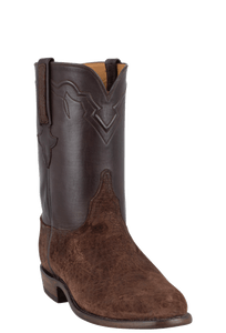 Lucchese Men's Chocolate Hippo Roper Boots - Hero