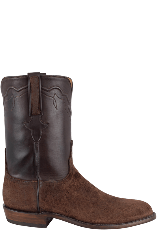 Lucchese Men S Chocolate Hippo Roper Boots Pinto Ranch