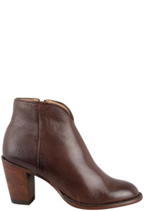 Lucchese Women's Whiskey Burnished Baby Buffalo Lucy Booties - Side