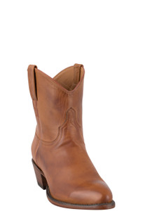 Lucchese Women's Cognac Jersey Calf Shorty Boots - Hero