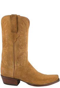 Lucchese Men's Sand Burnished Wax Cowhide Boots - Side