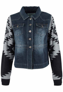 Ryan Michael Denim and Sweater Jacket - Front