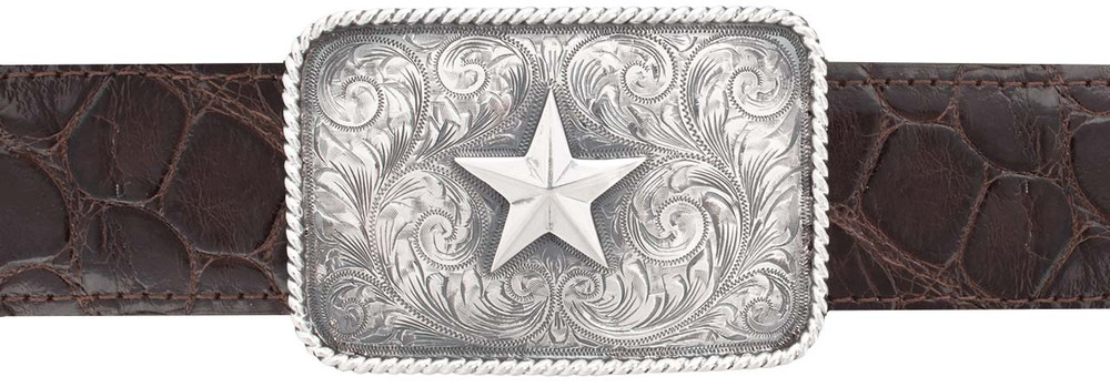 """Sunset Trails Star Rope Edge 1 1/2"""" Trophy Buckle"""