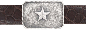 "Sunset Trails Star Rope Edge 1 1/2"" Trophy Buckle"
