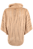 Alberto Makali Faux Suede Laser Cut Poncho Top - Camel - Back