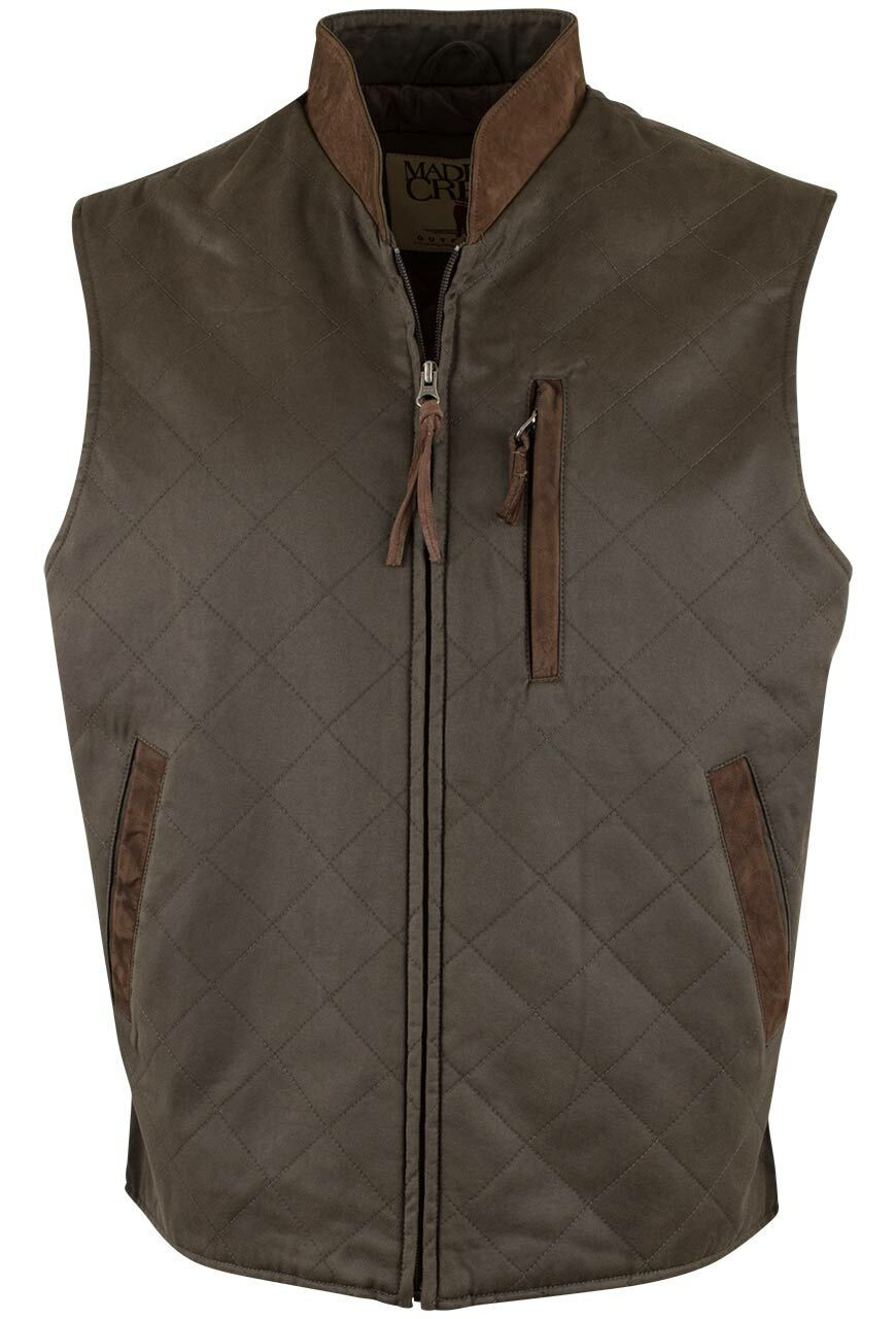 Madison Creek Quilted Zipper Vest Loden Pinto Ranch