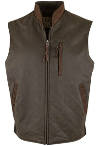 Madison Creek Quilted Zipper Vest - Loden - Front