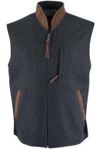 Madison Creek Ashville Wool Blend Vest - Charcoal - Front