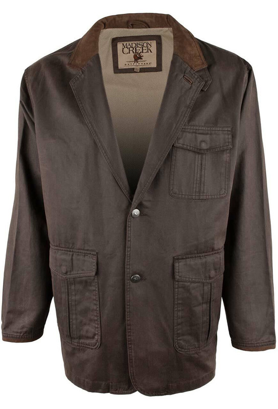 Madison Creek Travel Jacket - Dark Brown - Front