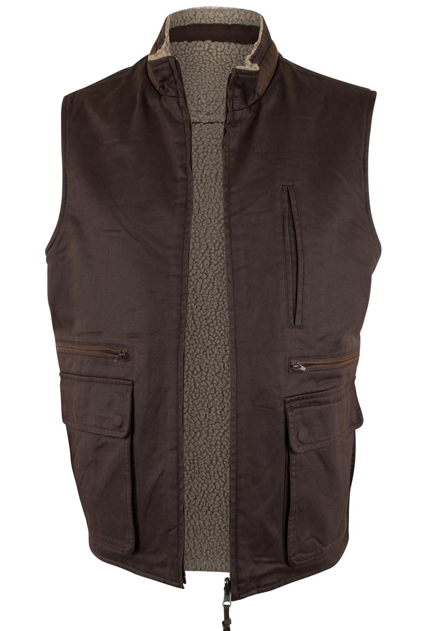 Madison Creek Reversible Sherpa Fleece Vest Dark Brown