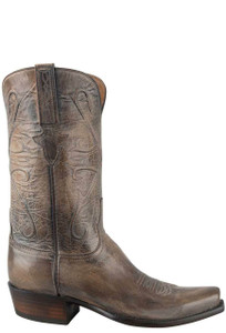 Lucchese Men's Pearl Bone Mad Dog Goat Boots - Side