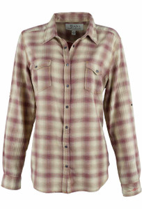 Ryan Michael Heather Plaid Snap Shirt - Front