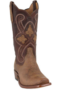 Rios of Mercedes Men's Rum Brown Zebra Boots - Hero
