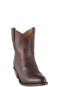 Lucchese Women's Tan Jersey Calf Shorty Boots - Hero