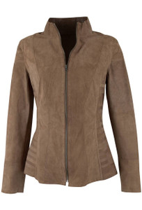 Tess Suede Reversible Jacket - Front
