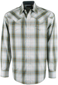 Stetson Green Hunters Plaid Snap Shirt - Front