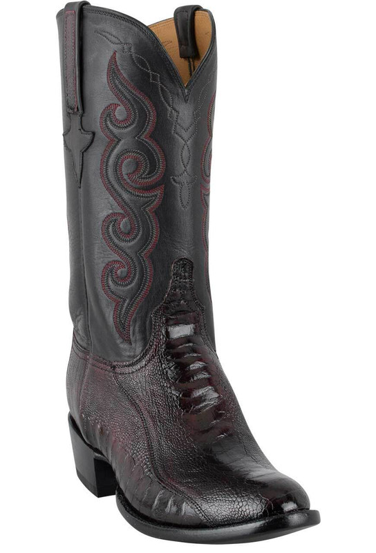 Lucchese Ostrich Leg Boots Buy Men S Lucchese Black