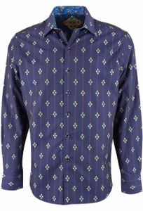 Robert Graham Jace Purple Sport Shirt - Front