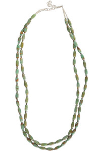 Ticklebutton Jewels Turquoise Rice Bead Necklace