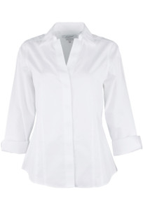 Foxcroft Taylor Fitted Blouse - Front