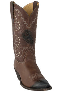 Liberty Boot Co. Women's Brown Buckaroo Inlay Boots - Hero