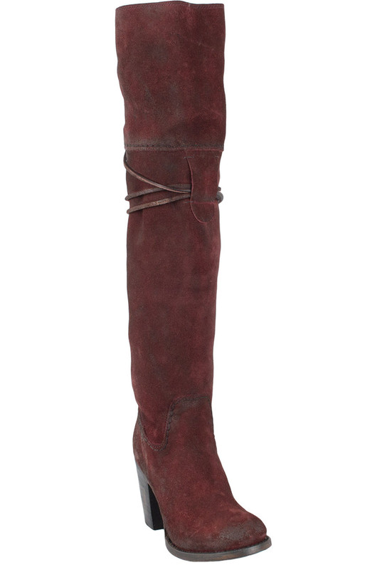 Freebird by Steven Women's Wine Suede Brock Boots - Hero