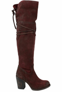 Freebird by Steven Women's Wine Suede Brock Boots - Side
