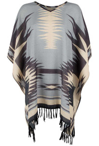 Double D Ranch Gauchos Blanket Poncho - Front