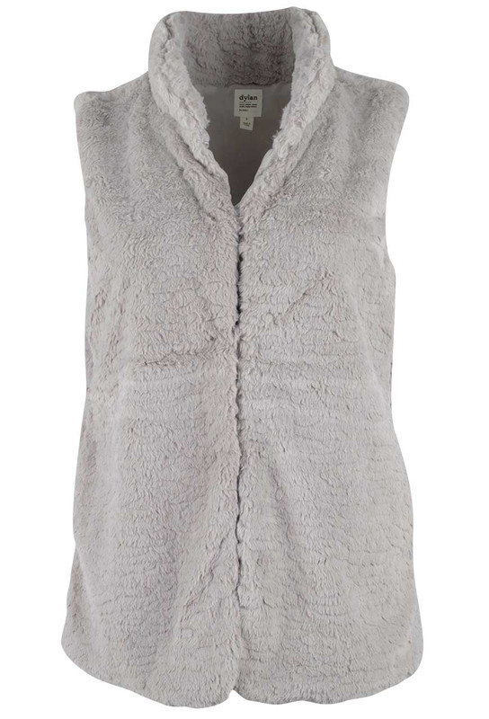 Dylan Faux Fur Hook Vest with Pockets - Front
