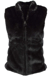 Scully Reversible Faux Fur Vest - Front