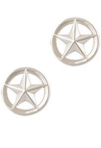 Greg Jensen Sterling Silver Star Cutout Cufflinks