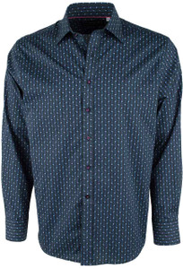 David Smith Australia Blue Diamond Print Shirt - Front