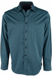 David Smith Australia Steel Carlisle Stripe Shirt - Front
