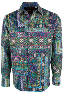 Robert Graham Garland Green Quilt Sport Shirt - Front