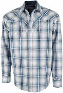 Stetson Blue Crystal Ombre Articulated Snap Shirt - Front