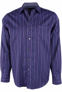 Bugatchi Orchid Stripe Shirt - Front