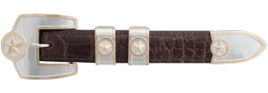 """Pinto Ranch Presidential Stars Gold 1"""" Buckle Set"""