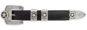 "Pinto Ranch Presidential Stars Engraved 1"" Buckle Set"