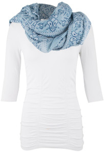 Tasha Polizzi Lonesome Dove Scarf - Chambray