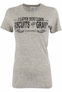 Cowgirl Justice Biscuits and Gravy Tee - Front