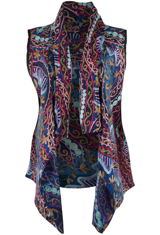 Anu Helena Embroidered Vest - Front