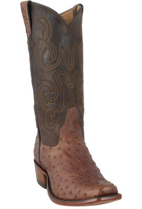 Rios of Mercedes Men's Kango Tobacco Lux Full-Quill Ostrich Boots - Hero