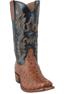 Rios of Mercedes Men's Brandy Full-Quill Ostrich Boots - Hero