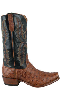 Rios of Mercedes Men's Brandy Full-Quill Ostrich Boots - side