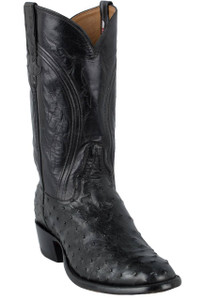 Rios of Mercedes Men's Black Americano Full-Quill Ostrich Boots - Hero