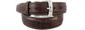 Vintage Croco Belt - Brown