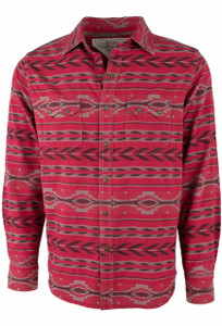 Ryan Michael Ruby Beacon Blanket Snap Shirt - Ruby
