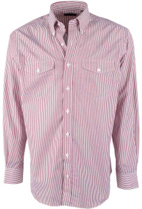 Pinto Ranch YY Collection Red Stripe Shirt - Front