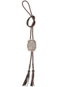 Silver King Barbed Wire Bolo Tie