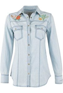 Ryan Michael Embroidered Western Snap Shirt - Front